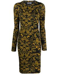 Versace Jeans Couture Baroque Dress - Black