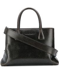 Miu Miu Top Handles Leather Handbag - Brown