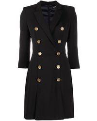 Elisabetta Franchi Double-breasted Blazer Dress - Black