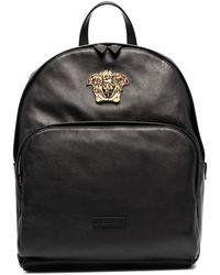 Versace Medusa Plaque Backpack - Black