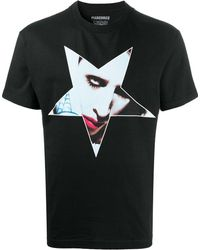Pleasures Graphic Print T-shirt - Black