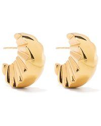 Patou jagged Crescent Earrings - Metallic