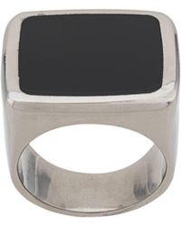 Givenchy Square Signet Ring - Black