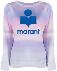 Étoile Isabel Marant Logo Print Watercolour Sweater - Blue