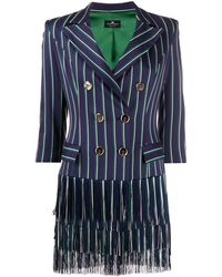 Elisabetta Franchi Striped Mini Dress - Blue