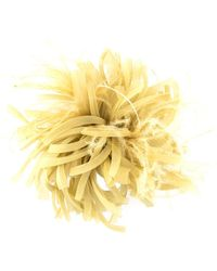 Max Mara Feather Flower Brooch - Yellow