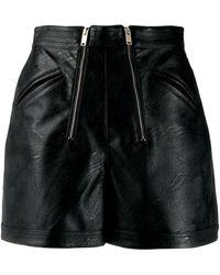 Stella McCartney Faux-leather Shorts - Black