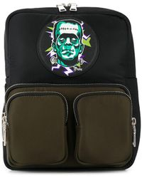 Prada Frankenstein Print Backpack - Black
