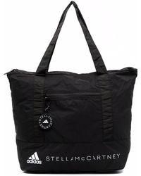 adidas By Stella McCartney Logo-print Tote Bag - Black