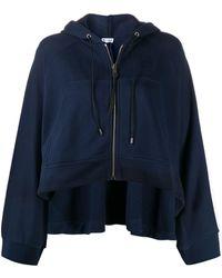 Loewe Oversized Zip-up Hoodie - Blue