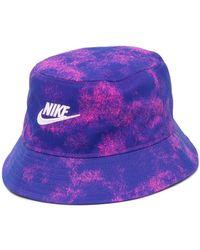 Nike Embroidered Logo Bucket Hat - Purple