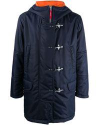 Fay Hooded Duffle Coat - Blue
