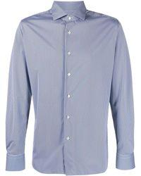Xacus Stripe-print Shirt - Blue