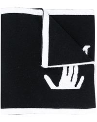 Off-White c/o Virgil Abloh - Intarsia-logo Scarf - Lyst