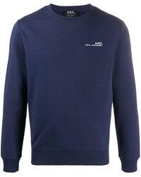 A.P.C. - Item Logo-print Cotton Sweatshirt - Lyst