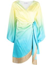 Art Dealer - Fringe-trimmed Wrap Dress - Lyst