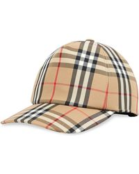 Burberry Check Print Baseball Cap - Multicolor