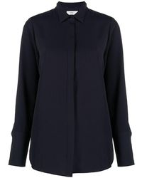 Closed Concealed-button Shirt - Blue