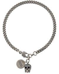 Alexander McQueen Skull Charm Bracelet - Metallic