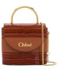Chloé Small Aby Lock Bag - Brown