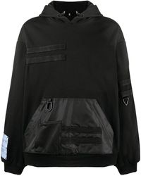McQ Albion Utility Cotton Hoodie - Black