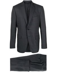 Tom Ford Plaid Two-piece Suit - Blue