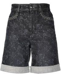 Chloé Knee-length Denim Shorts - Grey