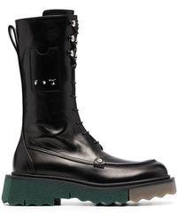 Off-White c/o Virgil Abloh Sponge Combat Lace-up Boots - Black