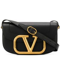 Valentino Garavani Supervee Calfskin Crossbody Bag - Black