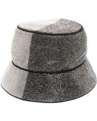 Kara Crystal-embellished Hat - Metallic