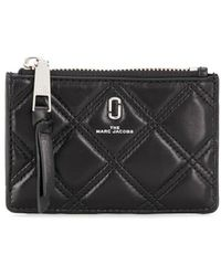 Marc Jacobs - The Quilted Softshot Top Zip Multi Wallet - Lyst