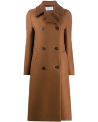 Harris Wharf London Double-breasted Wool Coat - Brown