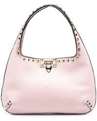 Valentino Garavani Small Rockstud Tote Bag - Pink