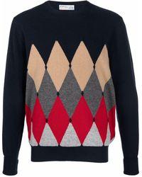 Ballantyne Argyle-knit Jumper - Blue