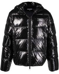 DSquared² High-shine Padded Jacket - Black