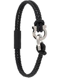 Ferragamo Gancini Braided Bracelet - Black