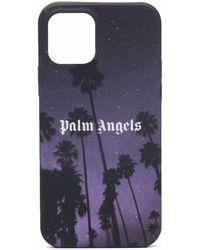 Palm Angels Stars And Palms Print Iphone 12 Pro Case - Black
