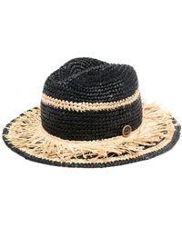 Catarzi Woven Raffia Sun-hat - Black