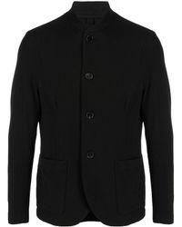 Harris Wharf London Mandarin Collar Blazer - Black
