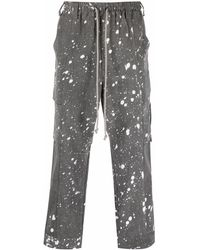 Song For The Mute Cropped Cargo Pants - Grey
