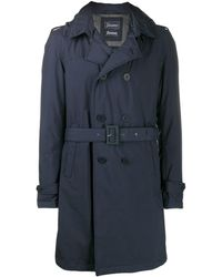 Herno Belted Double Breasted Coat - Blue