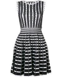 Antonino Valenti - Ruffle Details Striped Dress - Lyst