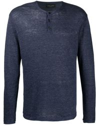 Roberto Collina Buttoned-up Knitted Sweater - Blue