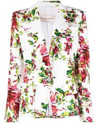 Alexandre Vauthier Floral-print Blazer - White