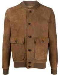 Salvatore Santoro Button Down Leather Jacket - Brown