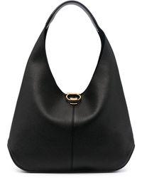 Ferragamo Small Gancini Hobo Bag - Black