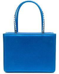 AMINA MUADDI Super Amini Gilda Crystal-trimmed Bag - Blue