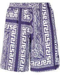 Aries Paisley-print Shorts - Blue