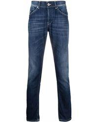Dondup Mid-rise Slim-fit Jeans - Blue
