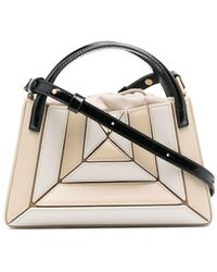 Mlouye Panelled Leather Tote Bag - Multicolour